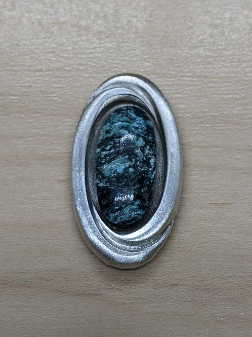 Interlocking Ovals- Stormy Mountain Turquoise