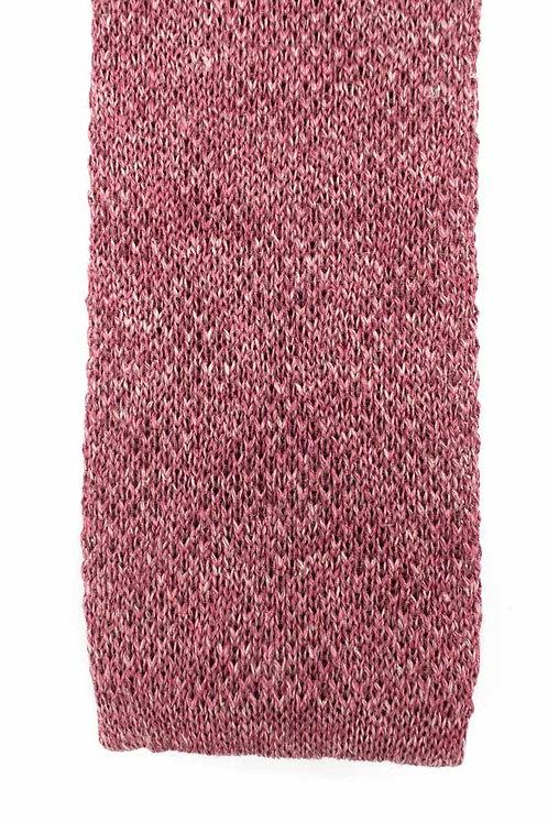 Cravate en tricot de lin et soie : bordeaux