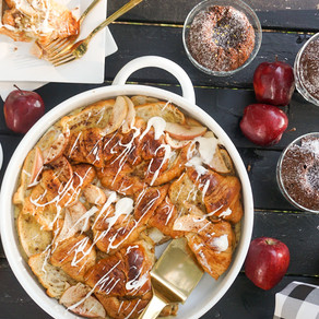 Breakfast for a Group - Apple Croissant Bake