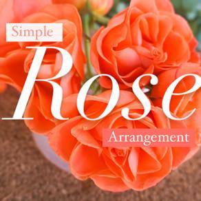 Simple Floral Arrangement DIY