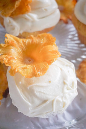 Pineapple Champagne Cupcakes + Toast fro