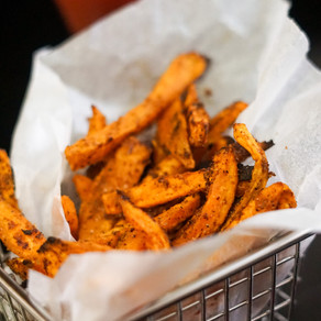 Perfectly, baked sweet potato fries