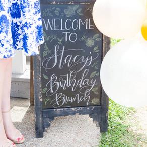 Hosting Stacy's Birthday Brunch