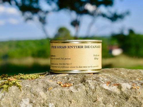 Foie Gras Entier de canard 120 gr