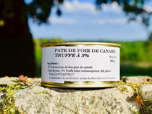 Pâté de Foie Gras de Canard Truffé à 5%180 gr