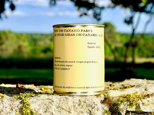 Cou de Canard Farci au Foie Gras Entier de Canard à 30%- 300 gr