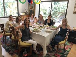 Celebrando con las alumnas