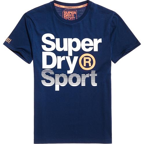 Superdry - Sport Graphic T-Shirt bleu