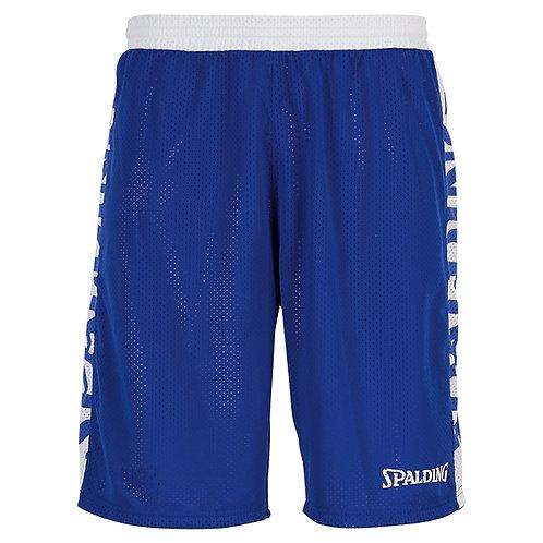 "Spalding - Short Réversible ""Essential"" bleu-blanc"