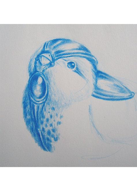 Croquis Oiseau Guerrier