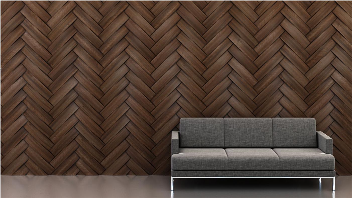 Shape: Curve   Pattern: Herringbone   Finish: Walnut