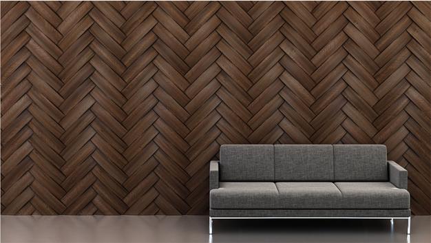 Shape: Curve | Pattern: Herringbone | Finish: Walnut