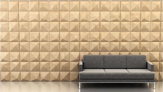 Shape: Peak | Pattern: Star | Finish: Maple