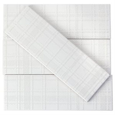 Viola Plaid Blanco matte  3x9 186