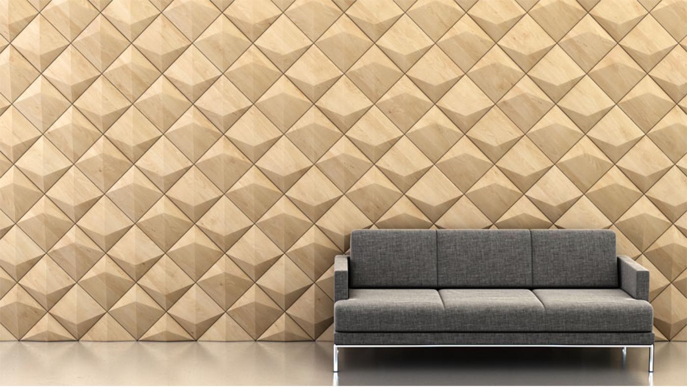 Shape: Peak   Pattern: Alternating Diagonal   Finish: Maple