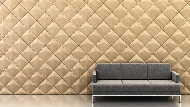 Shape: Peak | Pattern: Diagonal | Finish: Maple