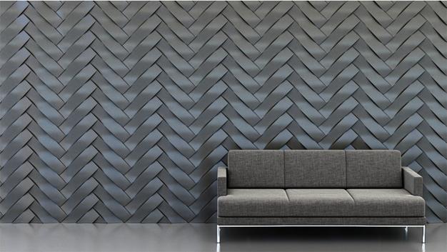 Shape: Twist | Pattern: Herringbone | Finish: Titanium