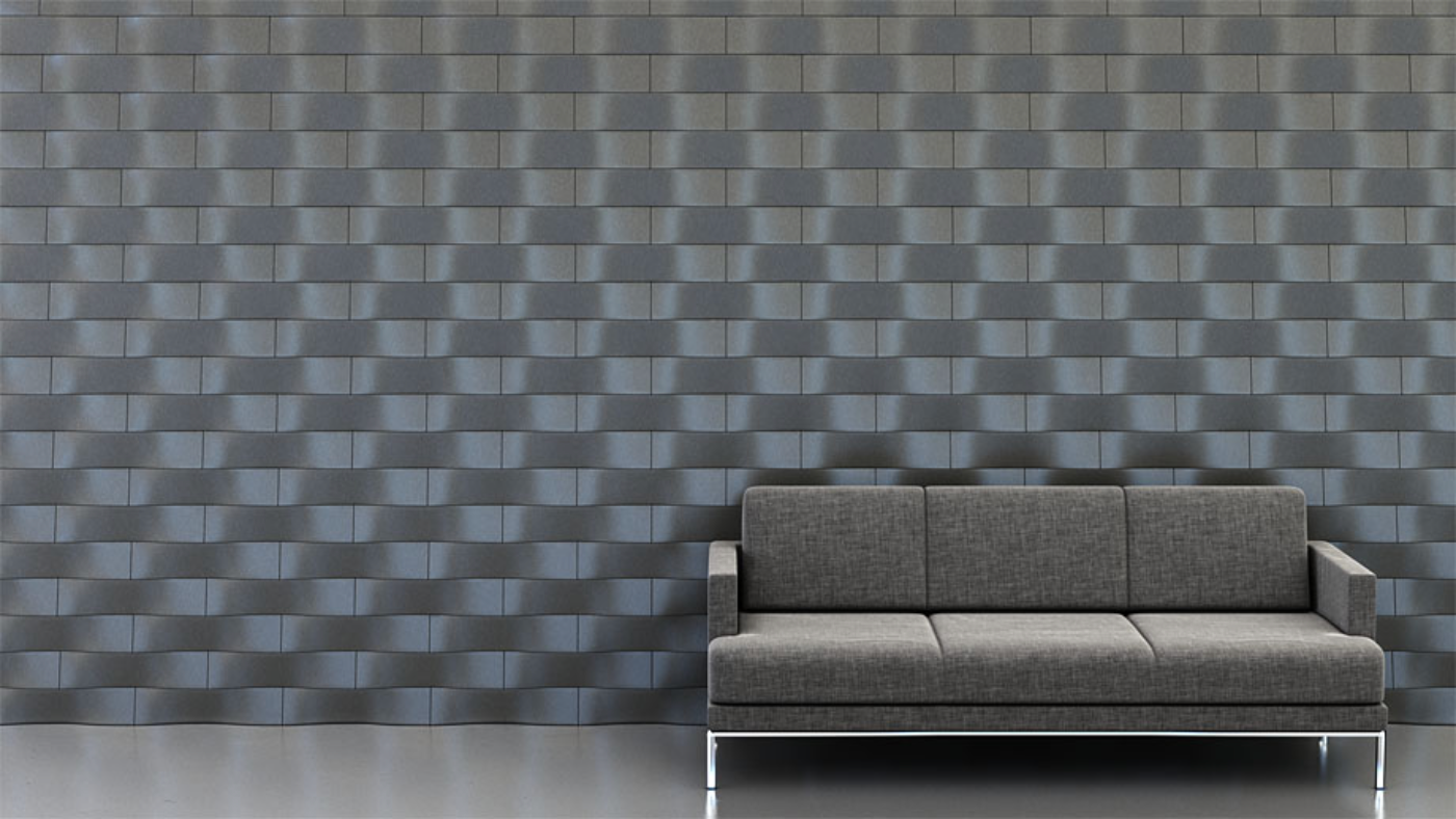 Shape: Twist   Pattern: Subway   Finish: Titanium