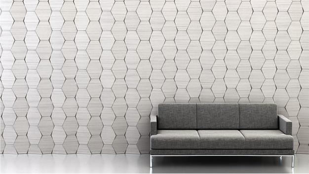 Shape: Slide | Pattern: Alternating Directional | Finish: Shimmer Ash