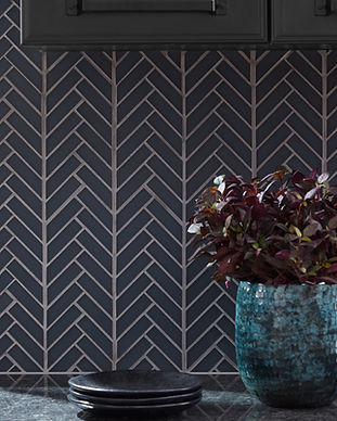 Glass Herringbone Mosaic