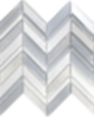 Glass Chevron Mosaic