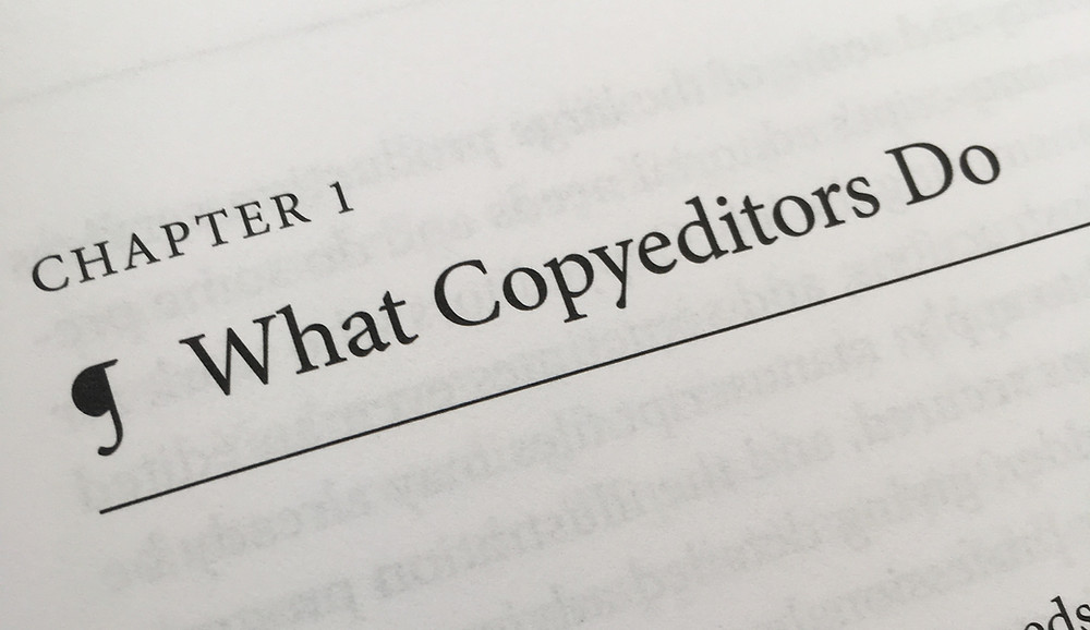 """Image of chapter title text: """"What copyeditors do."""""""