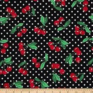 Kersen en dots zwart