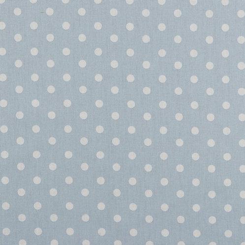 Polka dots wit op lichtblauw