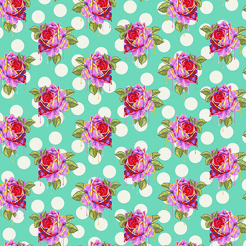 Tula Pink Curioser Painted roses Wonder