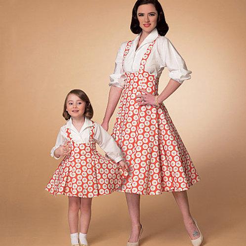Rok en blouse uit 1958 McCall's 7184