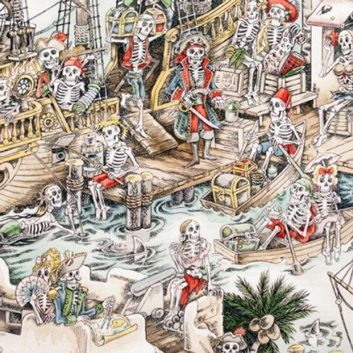 Piraten skeletten, skelewags kleur