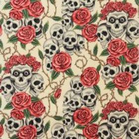 skulls and roses ecru