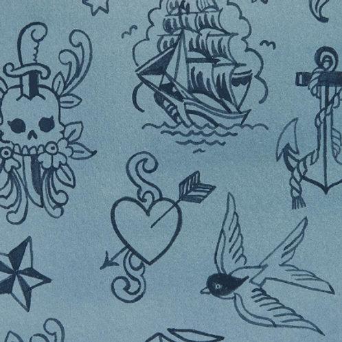 Ink work - bleu tonal
