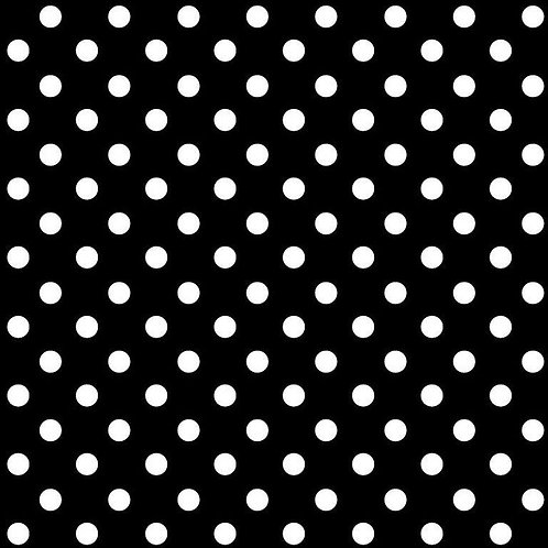 Polka dots wit op zwart