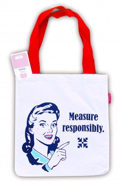 Measure responsably tote bag