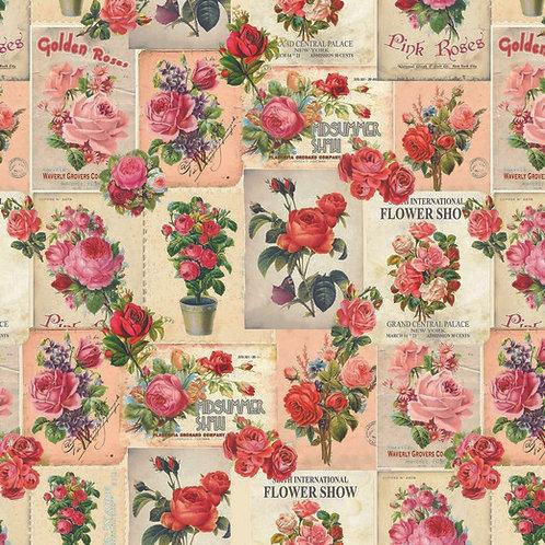 Nostalgische rozen canvas