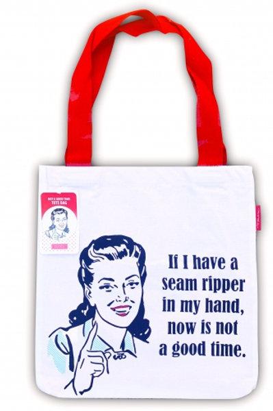 Seam ripper tote bag