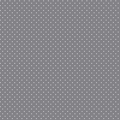 Mini polka dots wit op lichtgrijs