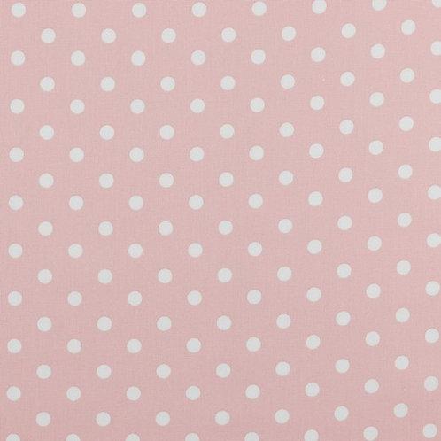 Polka dots wit op lichtrose