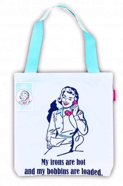 Hot irons tote bag