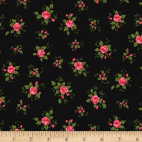 Charming kleine roosjes op zwart