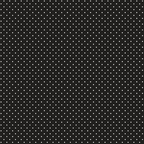 Mini polka dots wit op zwart