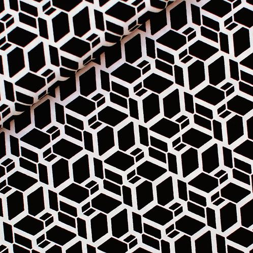 Skew cube zwart wit