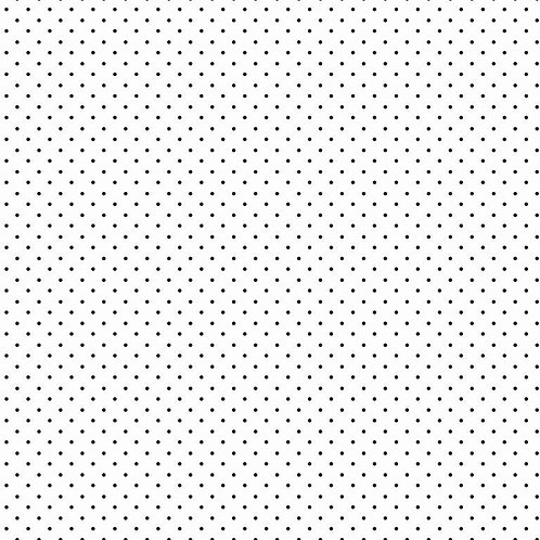 Mini polka dots zwart op wit