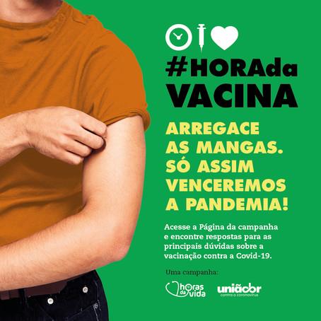 """Instituto Horas da Vida e UniãoBR lançam o movimento """"Hora da Vacina"""""""