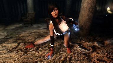 Tifa Lockhart follower by Shadowdancer, skyrim mods