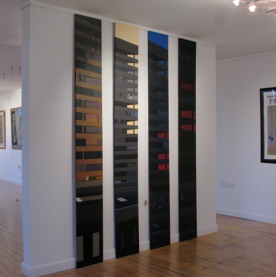 Western, 30.5x224cm (each panel), acrylic on board, 2010