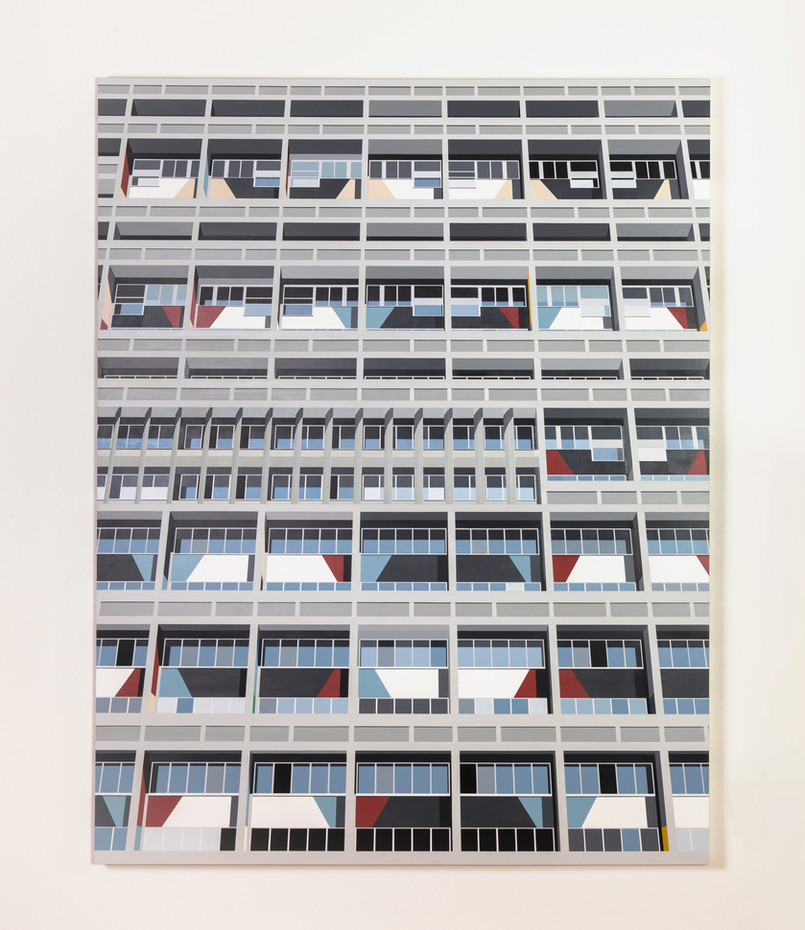 'Modernhaus' 135x105cm, Acrylic on Board, 2020