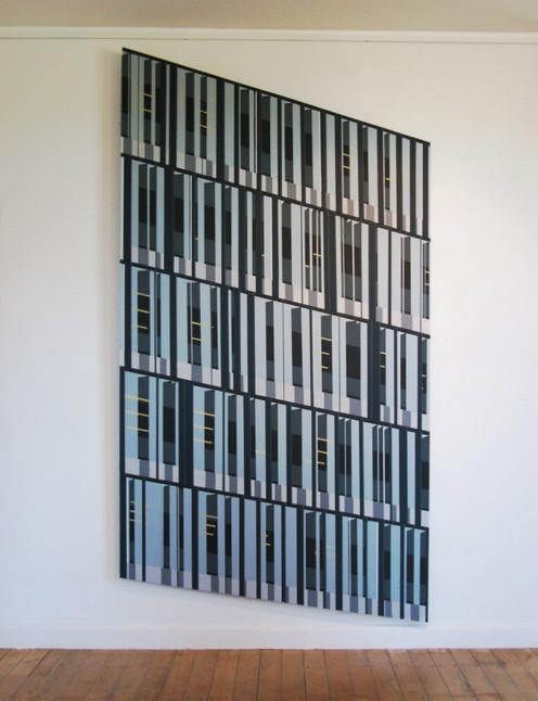 Blue Fin, 122x210cm, acrylic on board, 2010
