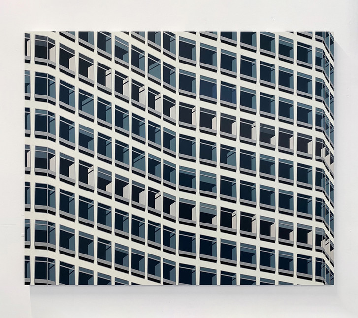 'Alpha Tower' 124x102cm, Acrylic On Board, 2021